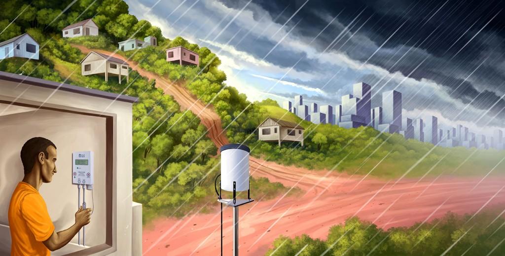 Pluviometros nas Comunidades